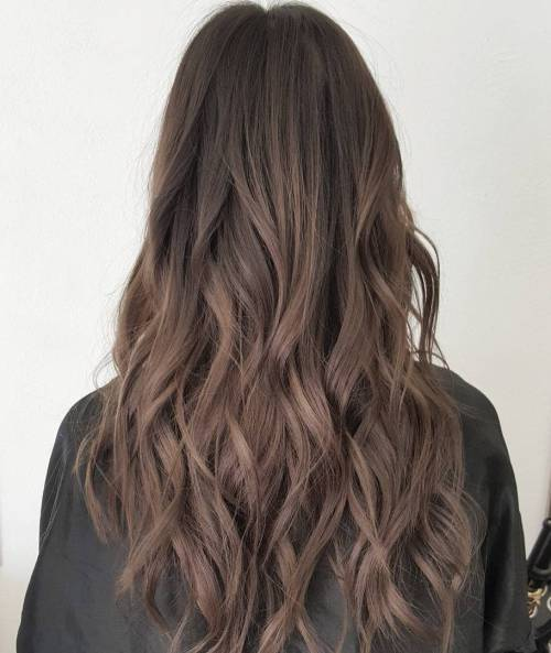 Long Ash Brown Hair
