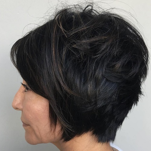 Short Layered Hairstyle For Women Over 40