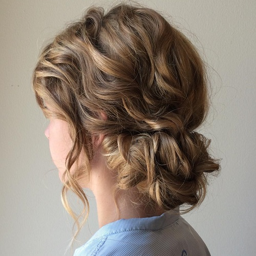 Hairstyles Updos 40 most delightful prom updos for long hair in 2017 Low Curly Updo