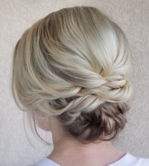 Updo for Blonde Balayage Hair