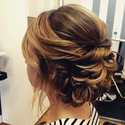 Updo For Medium Hair With Bangs