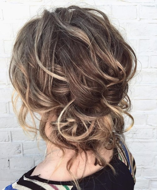 Easy Messy Updo For Wavy Hair
