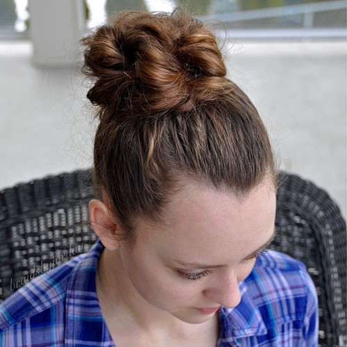 Hairstyle Girl Buns: 40 Effortless And Cool Hairstyles For Teenage Girls