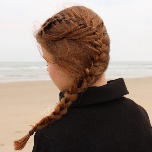 Curvy Side Braid Teen Hairstyle