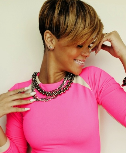 Rihanna Hairstyles wispy pixie Short Hairstyle With Long Bangs