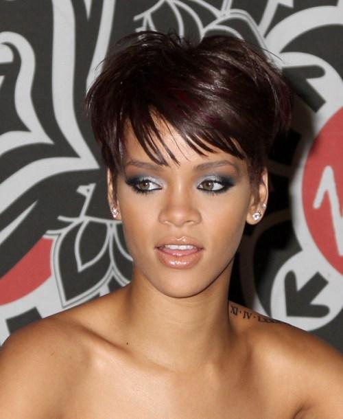 Enjoyable 15 Heart Stopping Looks Featuring Rihanna39S Short Hairstyles Short Hairstyles For Black Women Fulllsitofus