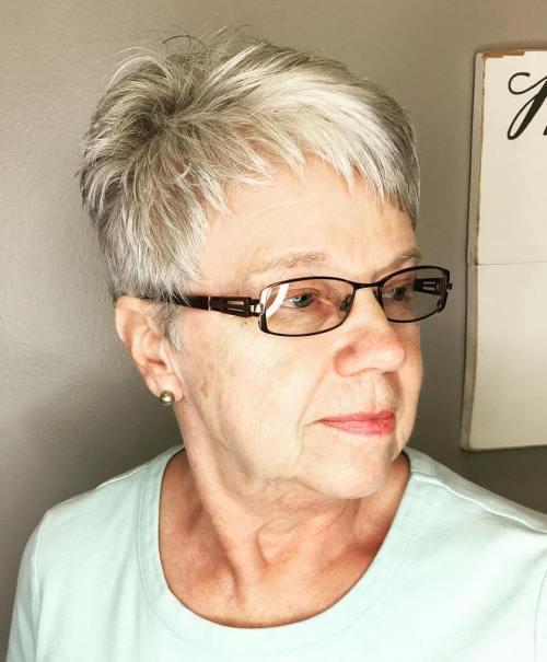 Short Blonde Pixie For Women Over 50