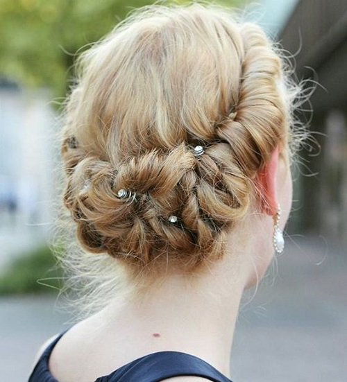 Cute Updo For Medium Hair For Prom