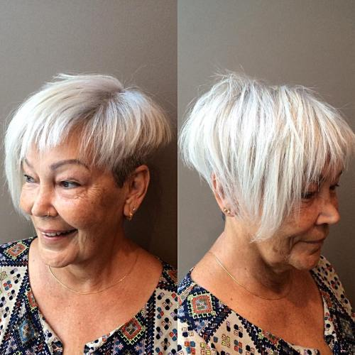 Over Asymmetrical Short Haircut