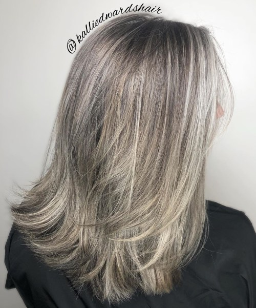 Brown Gray Balayage Hair