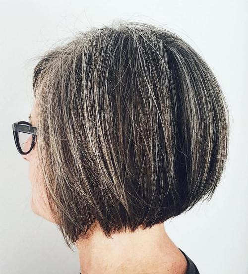 Thin Blonde Highlights For Graying Dark Hair