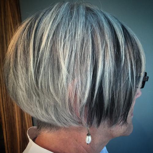 Black And Blonde Bob For Older Women