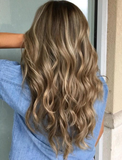 Platinum blonde and brown hair