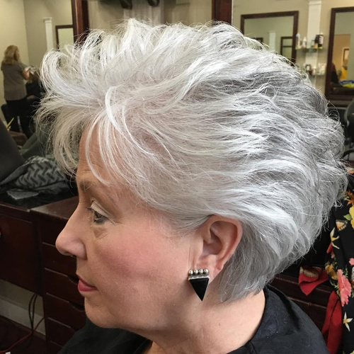 65 Gorgeous Hairstyles For Gray Hair