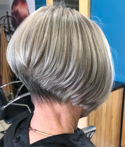 Short Gray Hair With Blonde Highlights