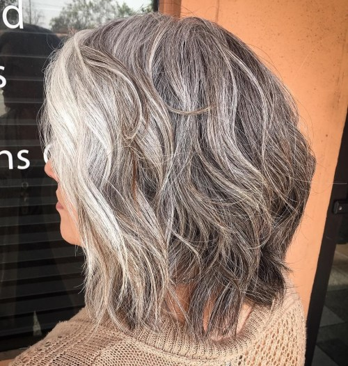 Medium Natural-Looking Gray Hair