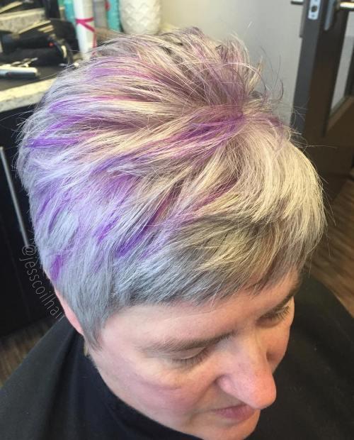 Short Choppy Blonde Hairstyle