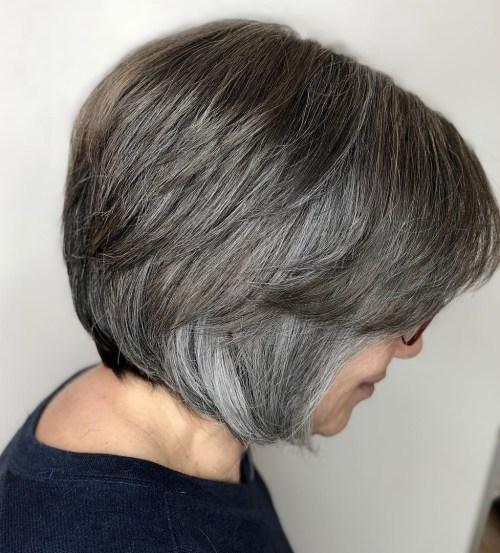 gorgeous hairstyles gray