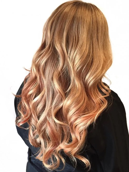 Strawberry Blonde Hair With Soft Highlights