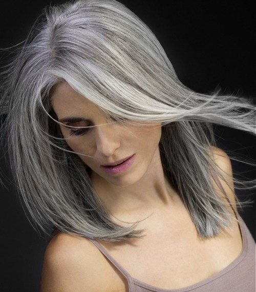 beautiful hairstyle for gray hair
