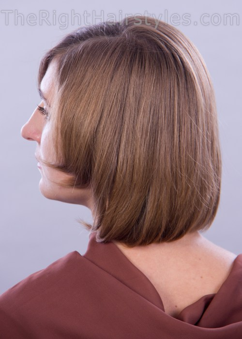 A-line hairstyle for short thin hair