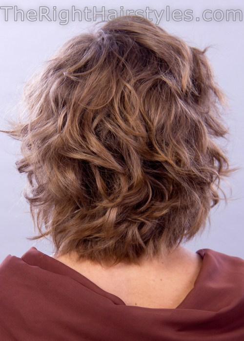 short voluminous curls