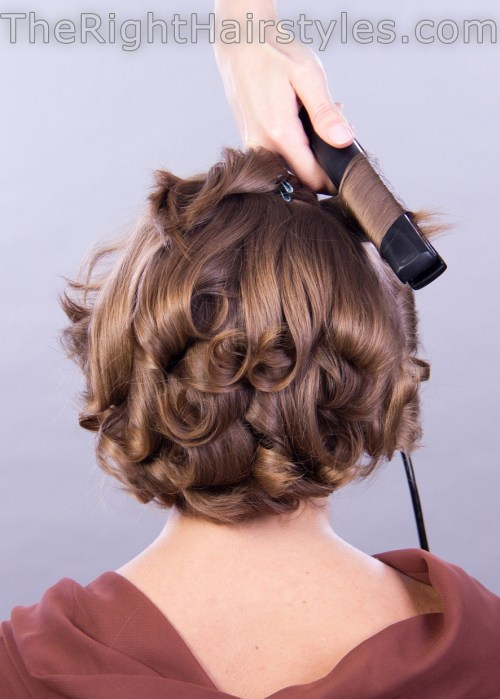 how to: voluminous curly hairstyle for short fine hair