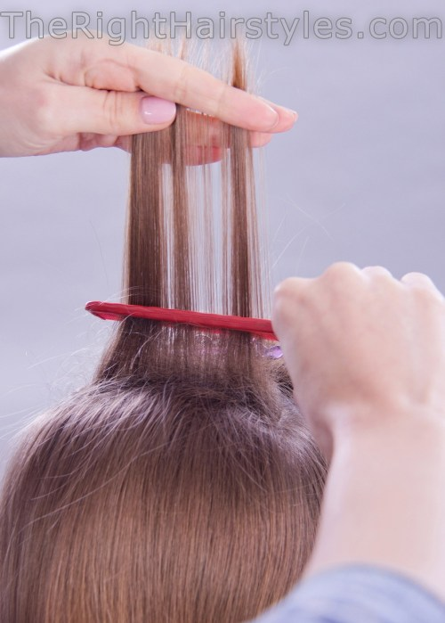hair backcombing