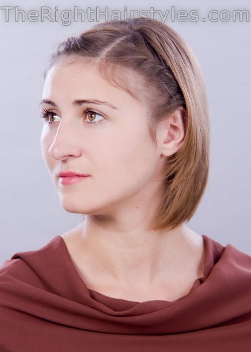 cute short hairstyle for thin hair