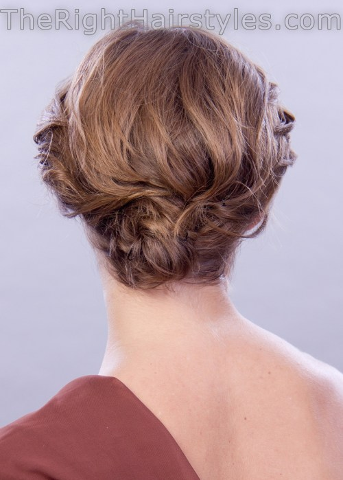 updo for short hair back view