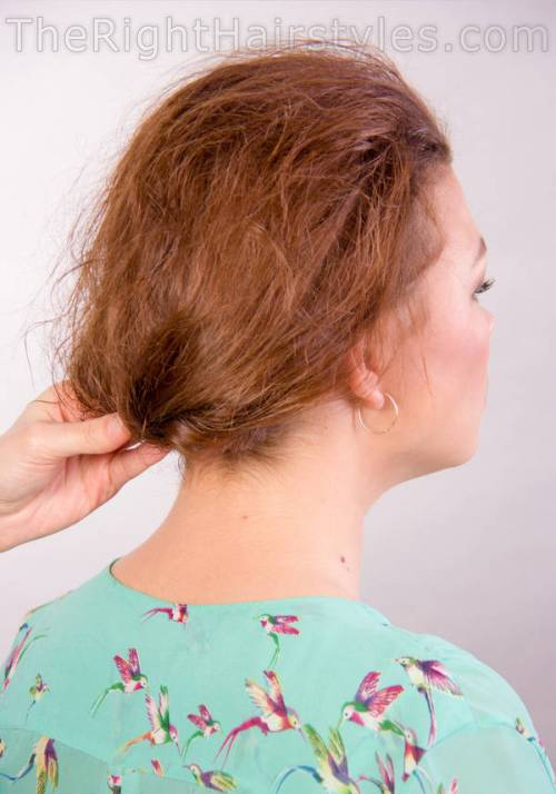 updo hairstyle for thin hair
