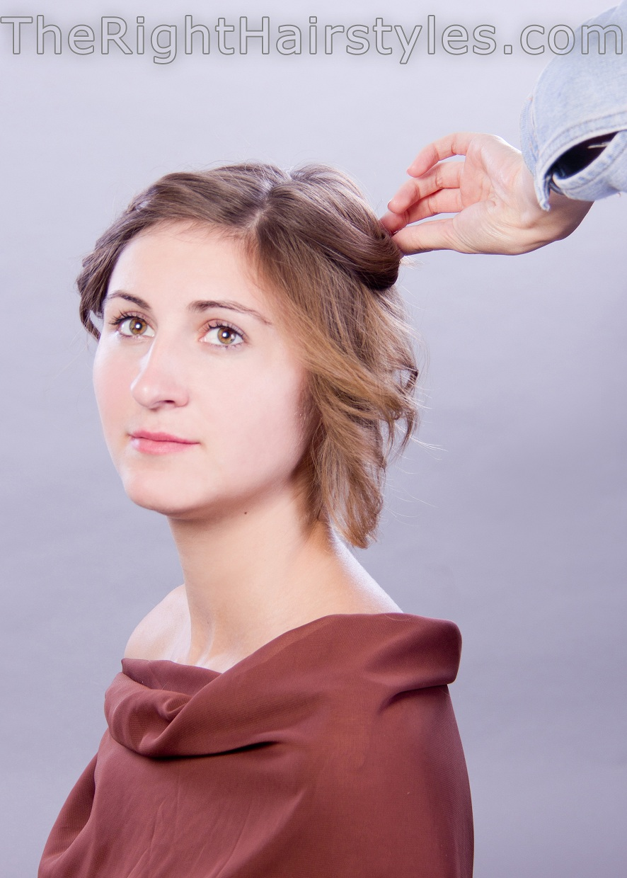 how to style updo for fine hair