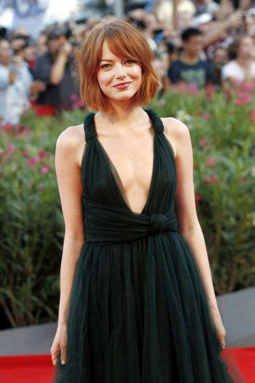 Emma Stone red bob hairstyle