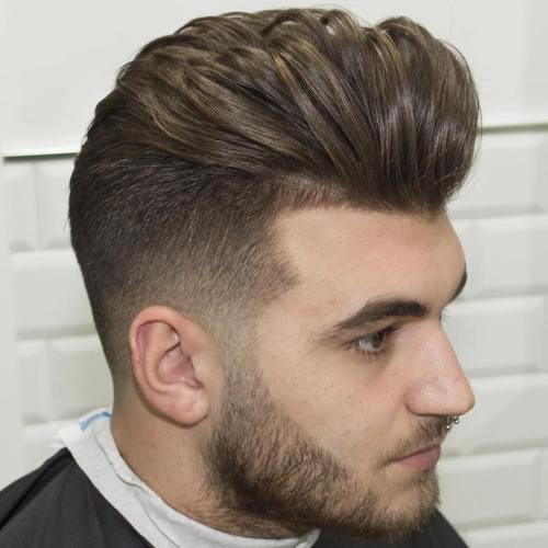 Feathered Long Top Short Sides Hairstyle