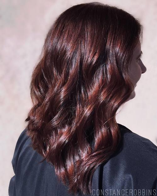 Mahogany Brown Hair Color