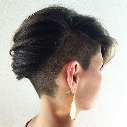 Mohawk pixie with undercut