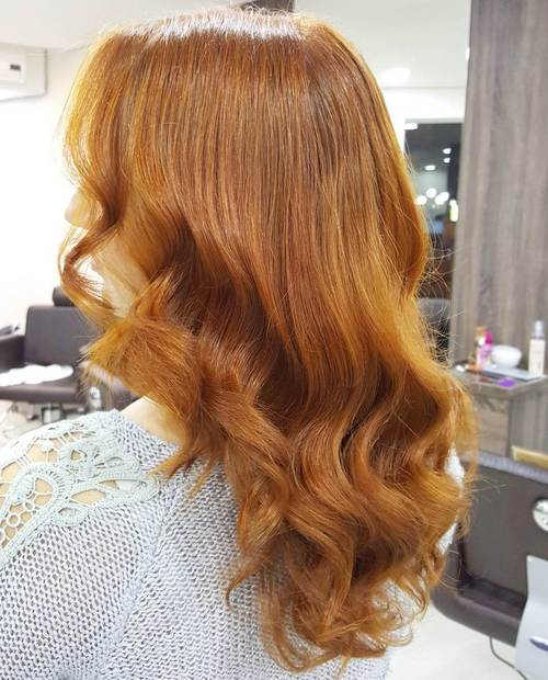Amber Red Balayage Hair