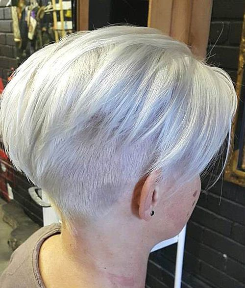 ash blonde undercut hairstyle for women