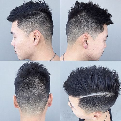 Boys Hairstyles best hairstyles for men spiky hair with hard part and skin fade Asian Hairstyle With Varied Length