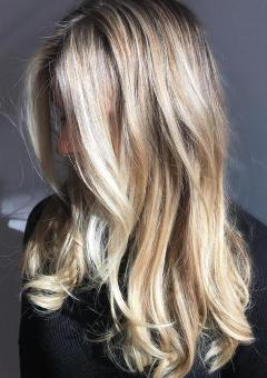 long disheveled blonde hairstyle