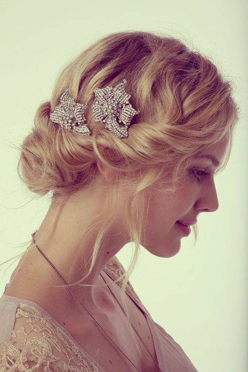 Swell 15 Sweet And Cute Wedding Hairstyles For Medium Hair Short Hairstyles Gunalazisus