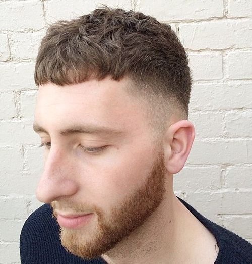 short tapered haircut for men