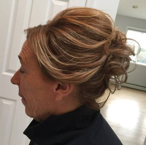 updo with a bouffant for women over 60