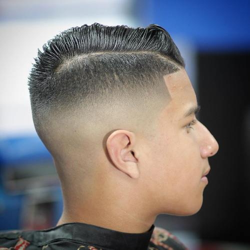 High Fade With Side Part For Guys