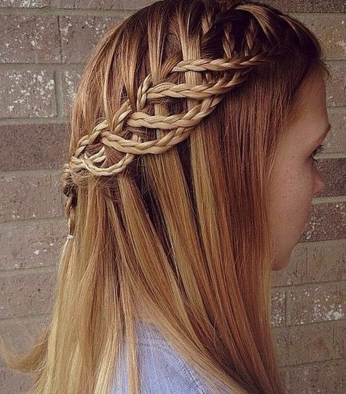 half up braided hairstyle for girls