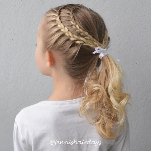 Double Heart Shape Braid For Girls