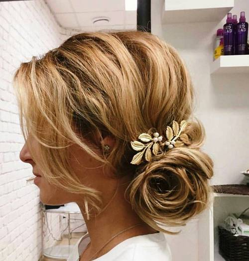 beautiful loose messy updo