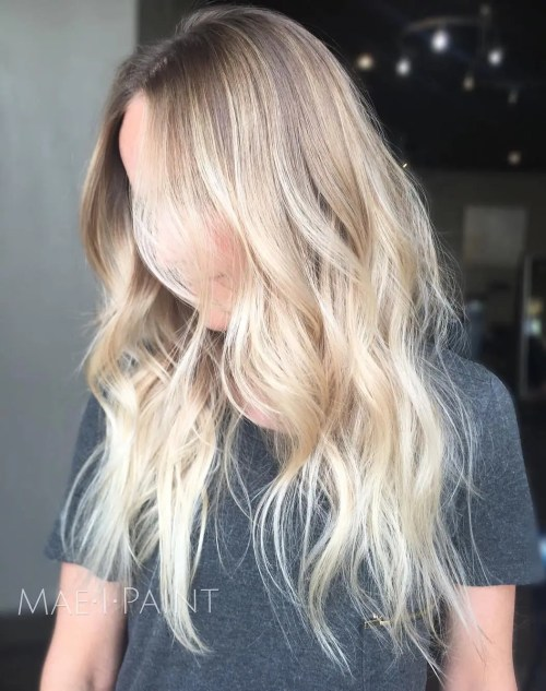 Face Framing Blonde Balayage Hair