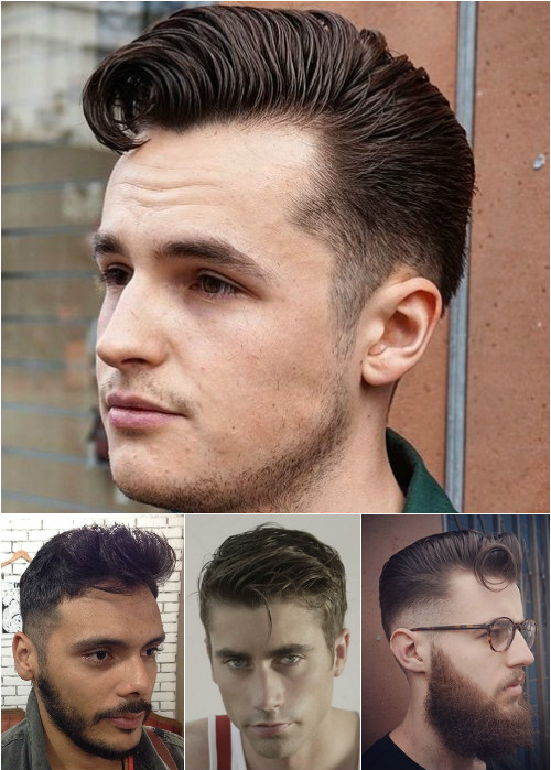 slick and polished men's hairstyles