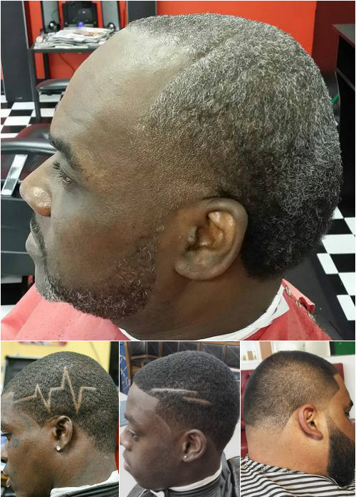 closely clipped men's haircut